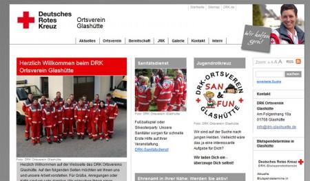 Relaunch www.drk-glashuette.de