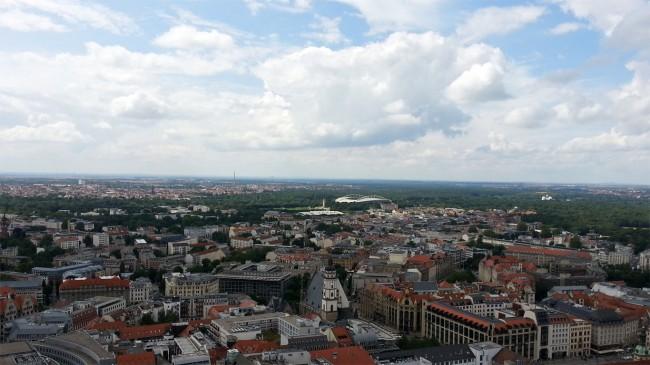 Blick über Leipzigs Innenstadt