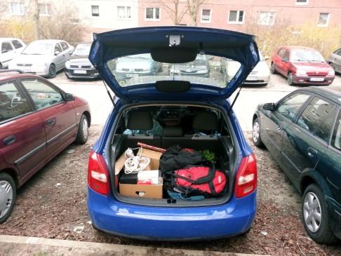 Auf Wiedersehen Jena. Ich glaube vor fünf Jahren hatte ich mehr Gepäck dabei.