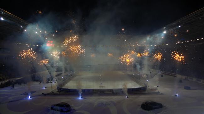 Den kr�nenden Abschluss bildete ein Feuerwerk im Stadion