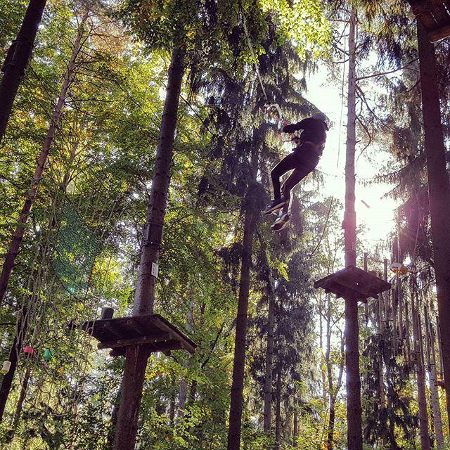 Einmal wie Tarzan #Kletterpark #Herbst